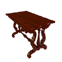 antique wooden table 3d model