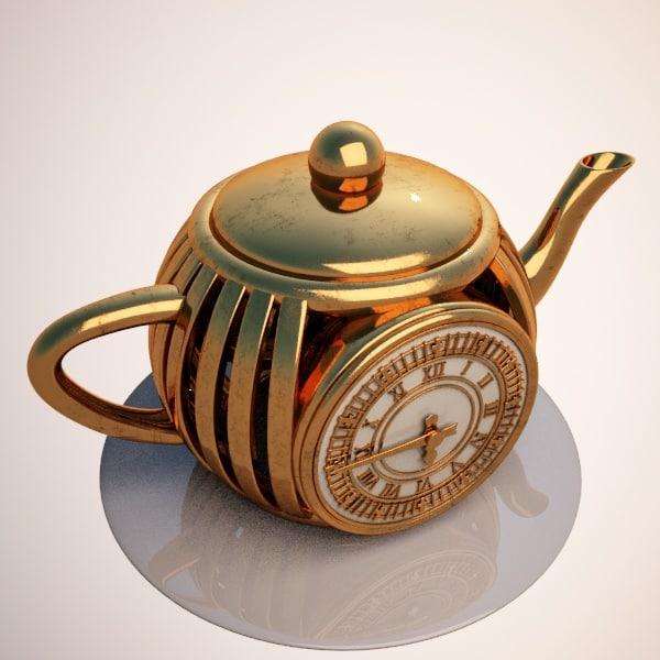 teapot clock 3d model
