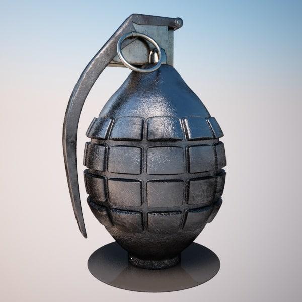 grenade 3d max