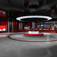 max virtual set news studio