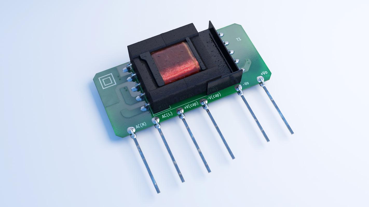 3d model electronic board