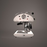 retro coffee maker 3d 3ds