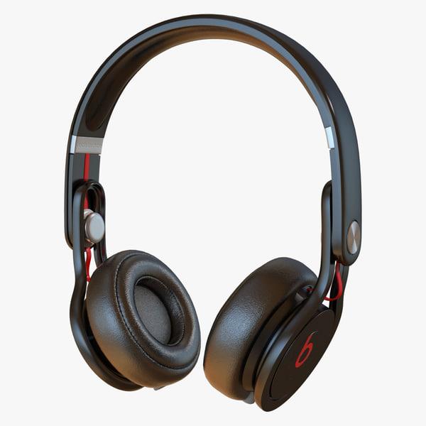 3d beats mixr headphone model