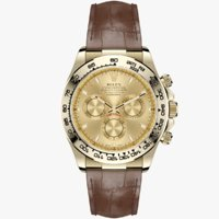 Rolex Daytona Gold Dial Leather Strap