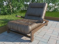 soft leather chair 3d model