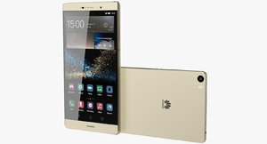 realistic huawei p8 gold 3d max