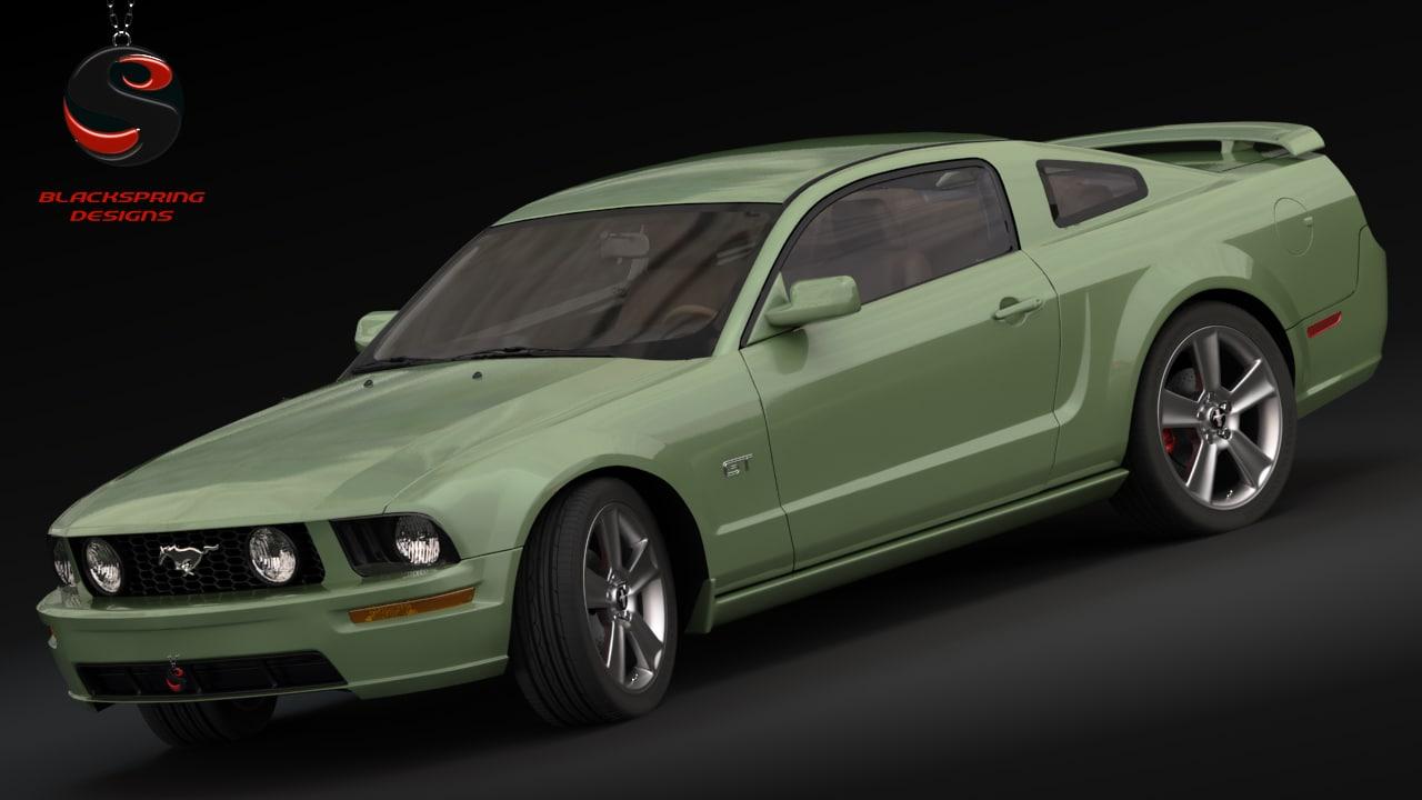 Mustang gt 2005 3d obj