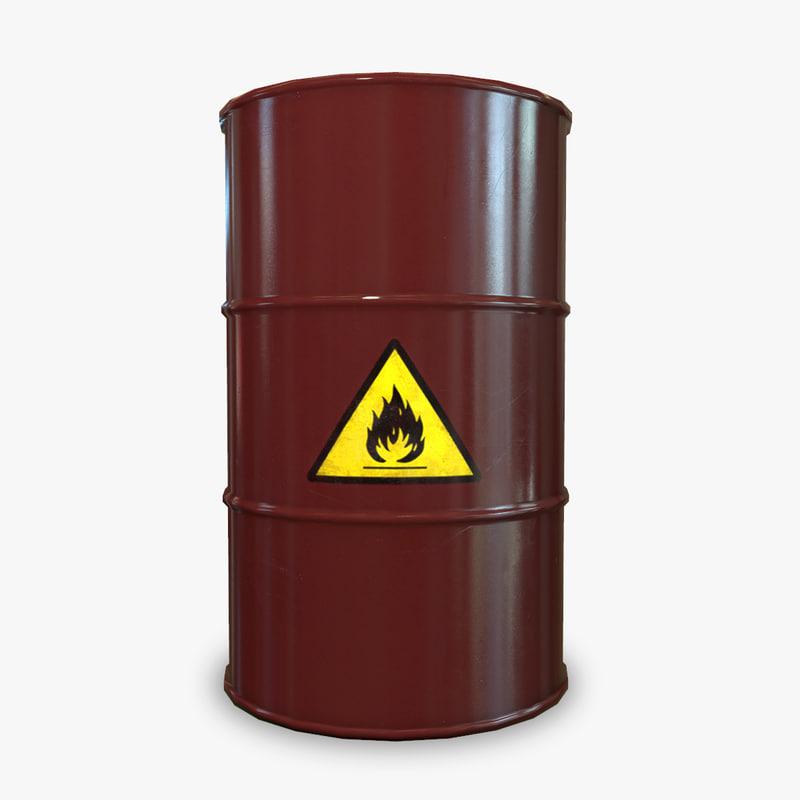 3d barrel liquid