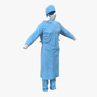 3d model surgeon dress 10 modeled