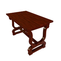 obj antique wooden table 2
