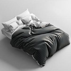 bed bedclothes clothes 3d model