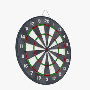 3d model dart board