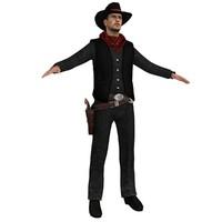 3d ma cowboy hat