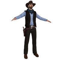 cowboy hat 3 3d model