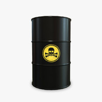 barrel toxic 3d model