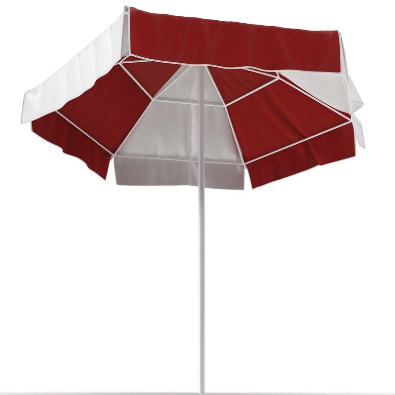 beach umbrella 3d model