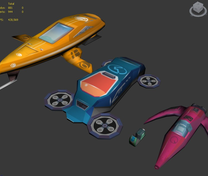 3d model of space crafts