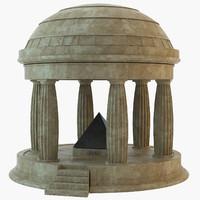 memorial roman temple 3d model