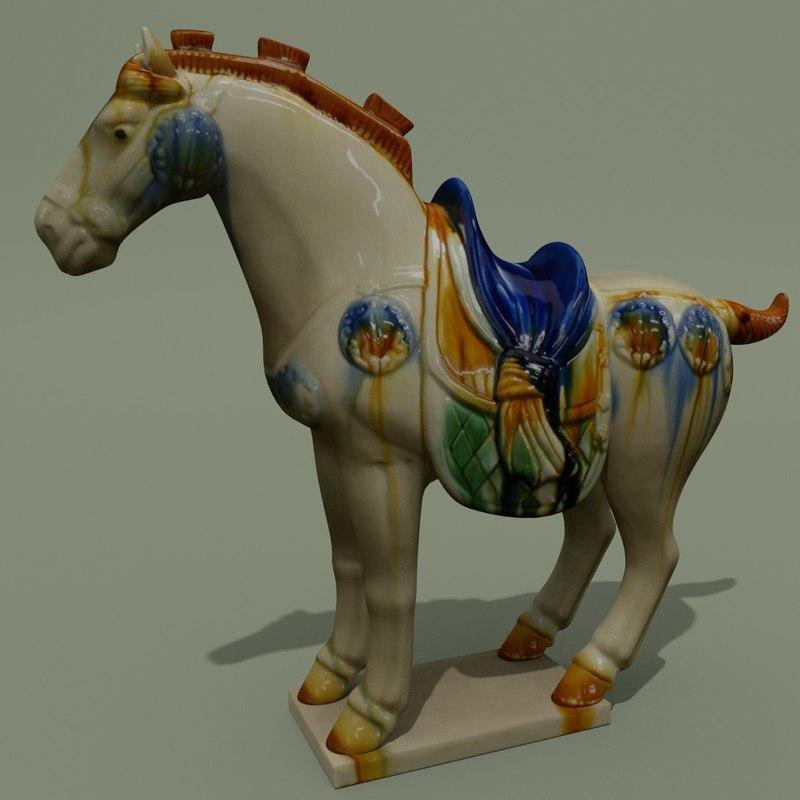 figurine horse statuettes 3ds