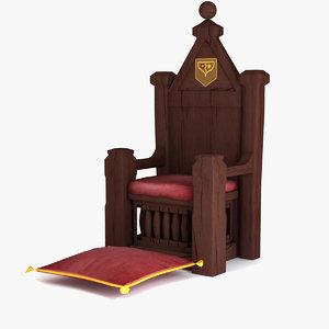 xi century throne 3d max