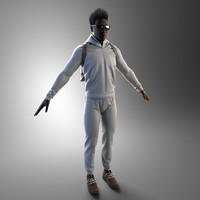 sportsman clothes 3d model