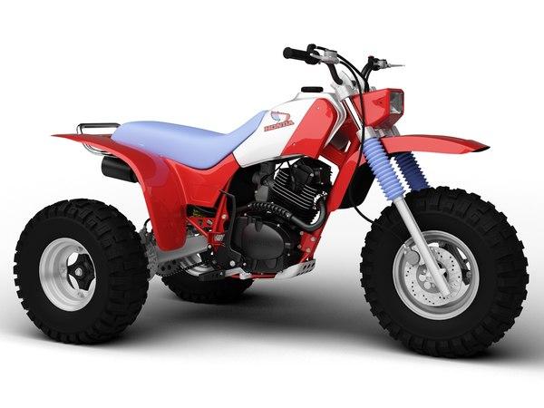 3d model honda atc200x 1984