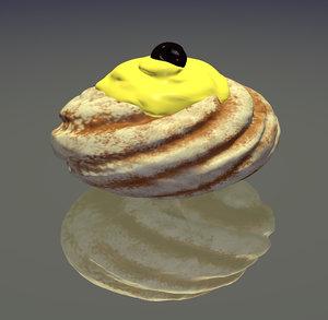 3d model italian pastry zeppola st