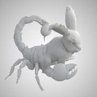 rabbit scorpion obj free