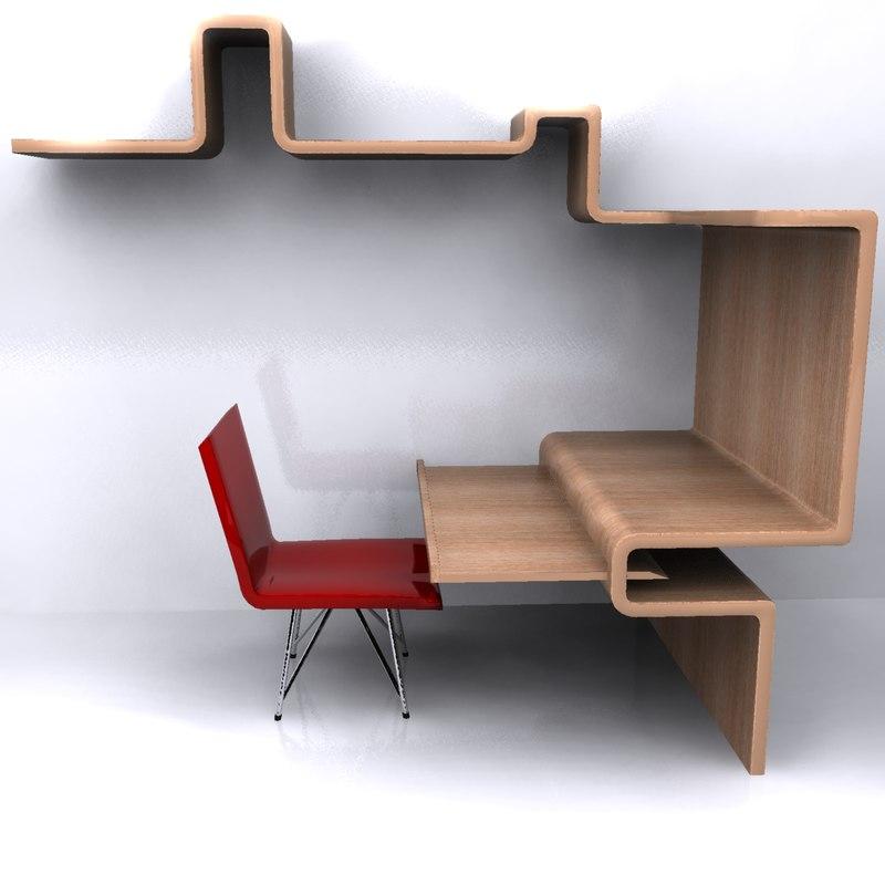 3d computer table model