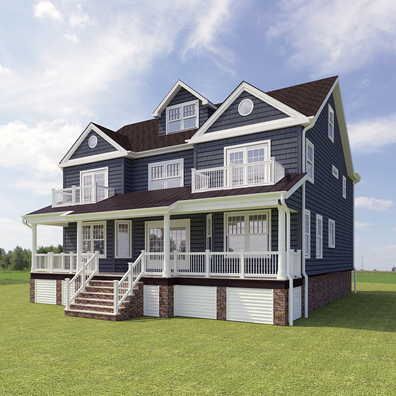 3d model of story house