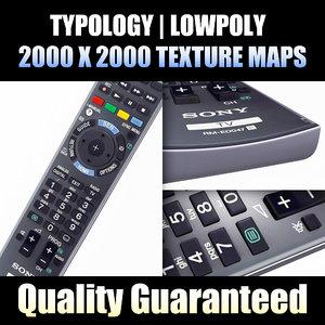 hdtv remote control 3d model