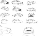 Saab 9000 3D models