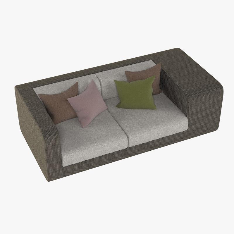3ds max dedon sofa