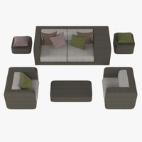 dedon furniture set 3d model
