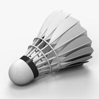 3d feather shuttlecock