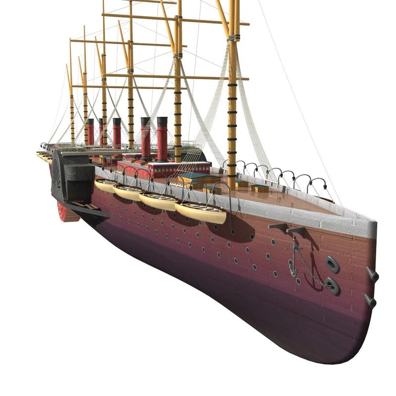 3d model great eastern ship