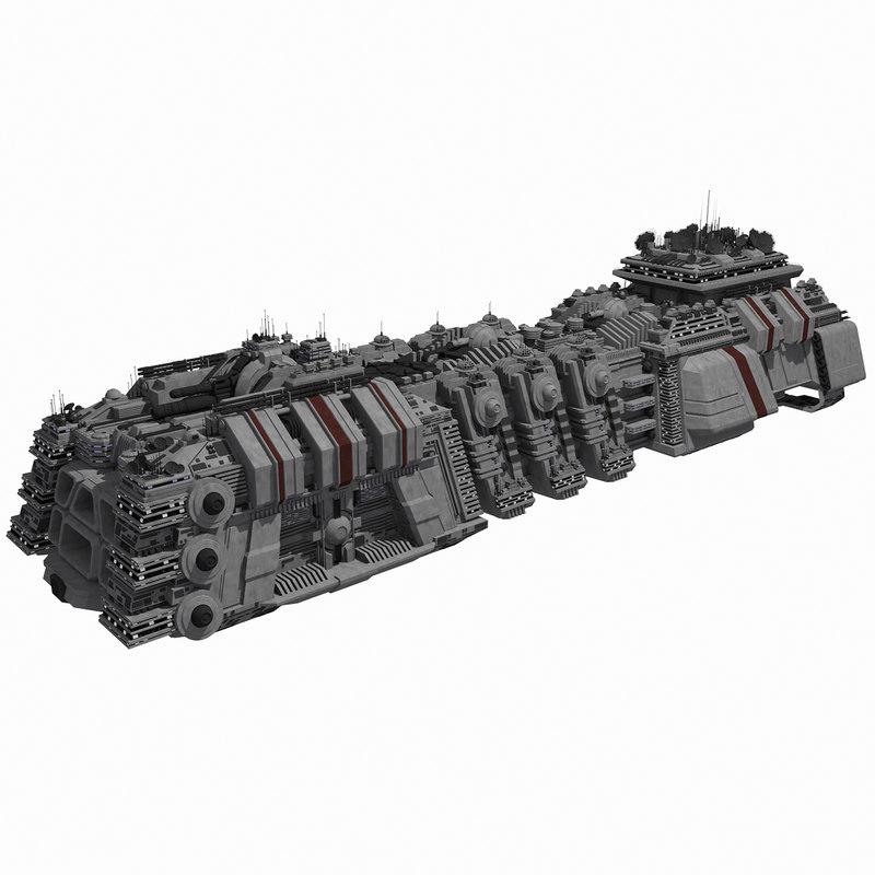 3ds max - large spaceship 1