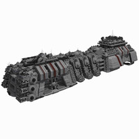 Large Spaceship 1 - Sci Fi Futuristic HD Spacecraft
