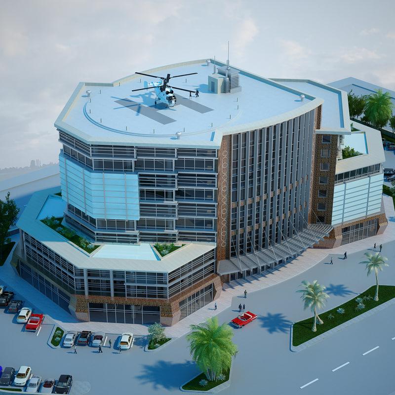 dwg office building 01