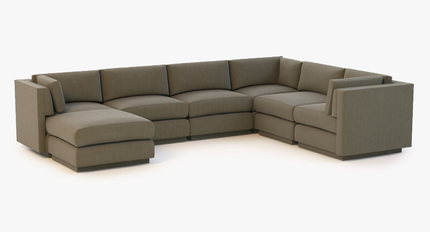 sofa baker sectional 3d 3ds