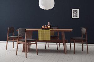 props dining room set 3d model