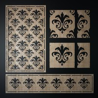 decorative laser cutting pattern 3d obj