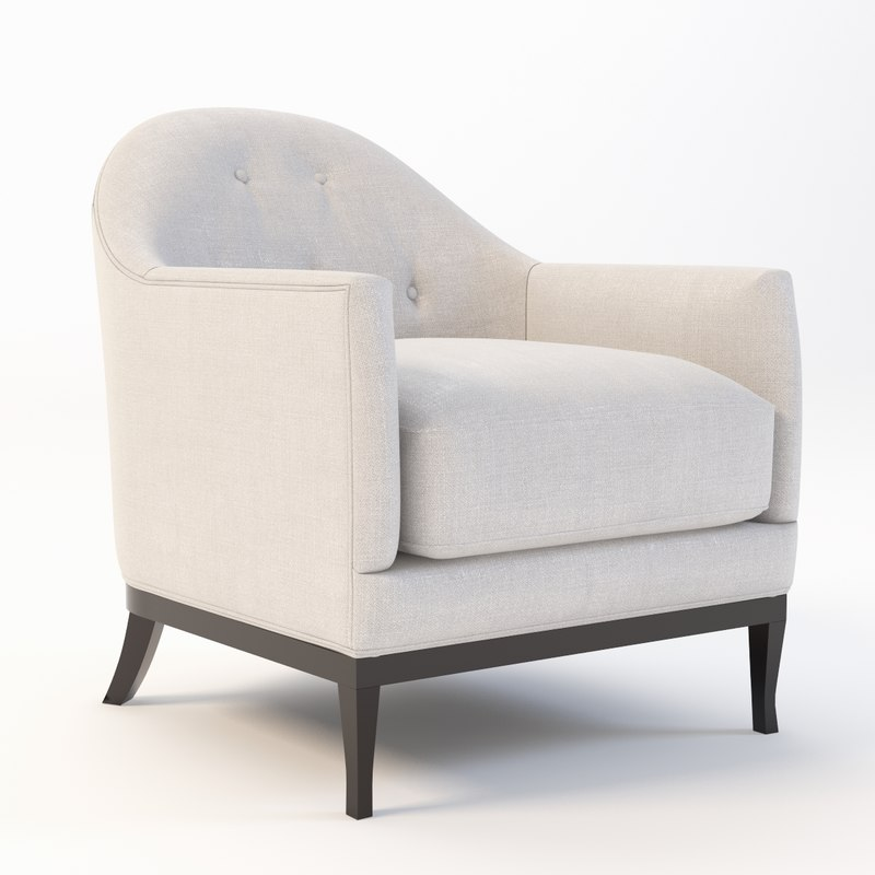 3d model rudin lounge occasional