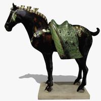 figurine horse statuettes 3d model