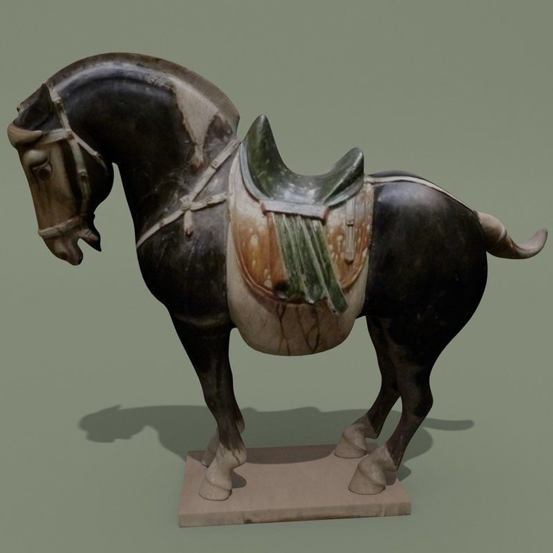 maya figurine horse statuettes