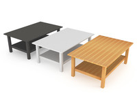 3d solid ikea coffee table