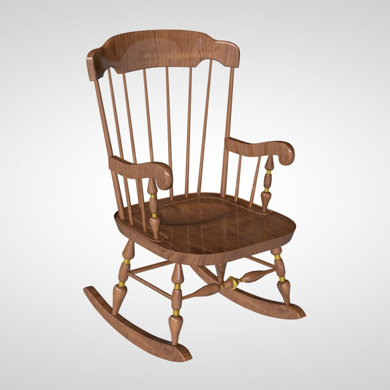 c4d rocking chair