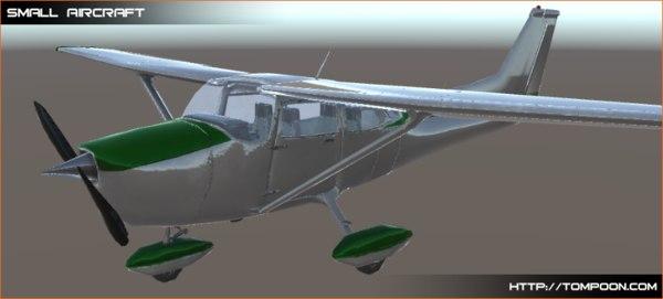 3d small aircraft