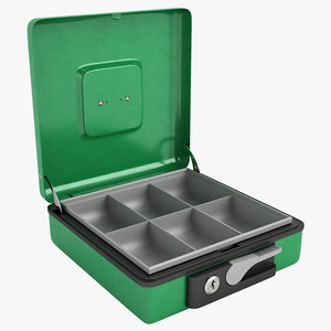 cash box open 3d model