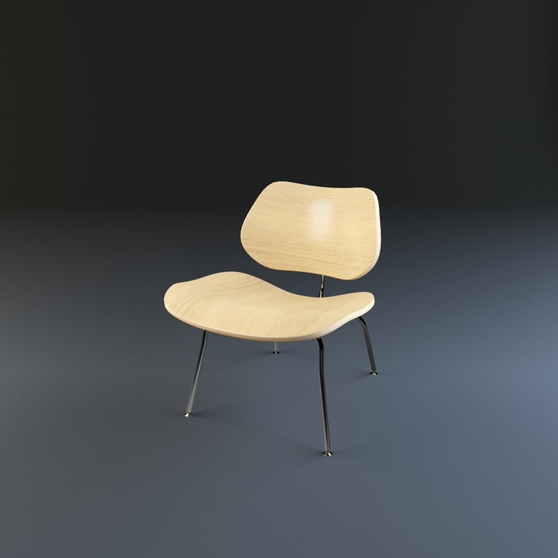 3d model vitra plywood chair